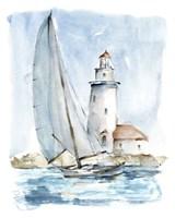 Sailing into the Harbor I Framed Print