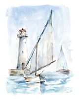Sailing into the Harbor II Fine Art Print