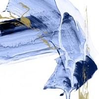 Golden Current I Framed Print