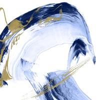 Golden Current II Framed Print