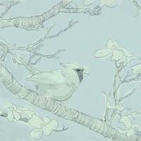 Backyard Bird Sketch I Framed Print