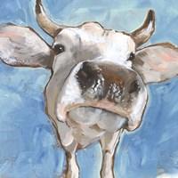 Cattle Close-up I Framed Print