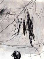Charcoal Waltz II Framed Print