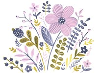 Sweet Folk Florals III Framed Print