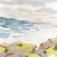 Pastel Shoreline I Framed Print