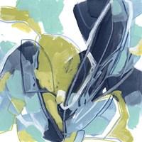 Blue Tangent II Framed Print