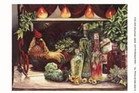Rooster & Oils Fine Art Print