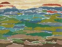 Stratified Landscape I Framed Print