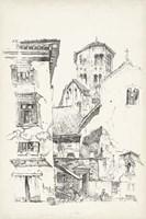 Vintage Italian Village II Fine Art Print