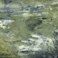 Encaustic Tile in Green II Fine Art Print