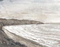 Coastal Shoreline I Framed Print