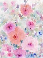 Bright Floral Design II Framed Print