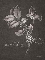 Black and White Chalkboard Christmas II Framed Print