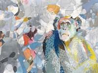 Abstract Chimpanzee Fine Art Print