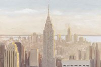 Manhattan Dawn Gold and Neutral Fine Art Print