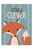 Stay Clever Framed Print