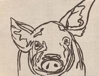 Farm Sketch Pig Fine Art Print