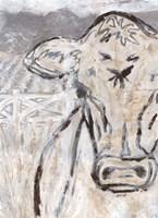 Farm Sketch Cow Fine Art Print