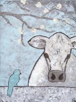 Farm Sketch Cow pen Fine Art Print