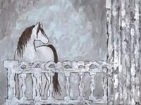 Farm Sketch Horse stable Fine Art Print