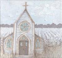 Farm Sketch Church Fine Art Print