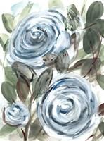 Farmhouse Rose Blue I Fine Art Print