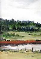 Farmhouse Fields I Framed Print