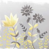 Soft Nature Yellow & Grey I Fine Art Print