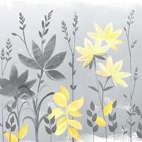 Soft Nature Yellow & Grey II Fine Art Print