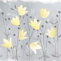 Soft Nature Yellow & Grey III Fine Art Print