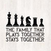 Chess Sentiment II-Family Fine Art Print