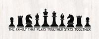 Chess Sentiment Panel-Family Fine Art Print