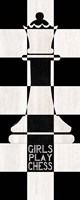 Chessboard Sentiment Vertical III-Girls Fine Art Print