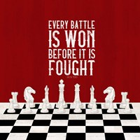 Rather be Playing Chess Red I-Every Battle Fine Art Print