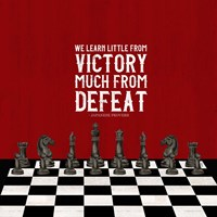 Rather be Playing Chess Red II-Learn More Fine Art Print