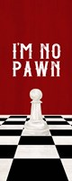Rather be Playing Chess Red Panel III-No Pawn Fine Art Print