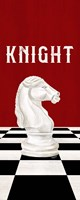 Rather be Playing Chess Pieces Red Panel III-Knight Fine Art Print