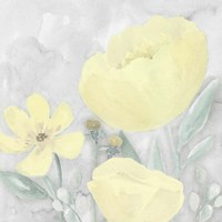 Peaceful Repose Gray & Yellow II Framed Print