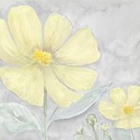 Peaceful Repose Gray & Yellow III Framed Print