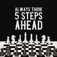 Rather be Playing Chess III-5 Steps Ahead Fine Art Print