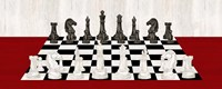Rather be Playing Chess Board Panel Red Fine Art Print