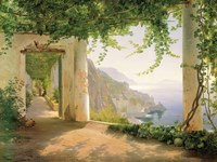 View to the Amalfi Coast Fine Art Print