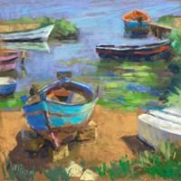 Fishing Boats in Marsala Fine Art Print