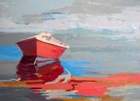 Red Boat Rhythm Fine Art Print