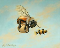 Beeing Egg Snatched Fine Art Print