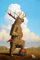 When Griz Grew Up He Wanted To Be A Moose Fine Art Print