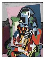 Harlequin Musician, 1924 Framed Print
