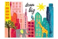 Dream Big Animals in the City Fine Art Print