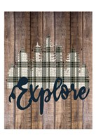 Explore Woods 2 Framed Print
