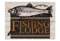 Fishing Lodge V2 Framed Print